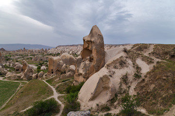 Mountain landscape in Cappadocia, Turkey