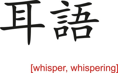 Chinese Sign for whisper, whispering