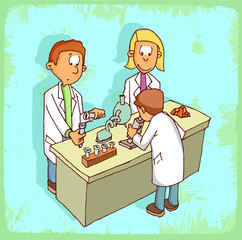 Cartoon science  illustration