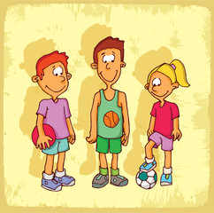Cartoon sport illustration