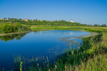 Город Арзамас. Берег реки Тёша с видом на Выездновские луга