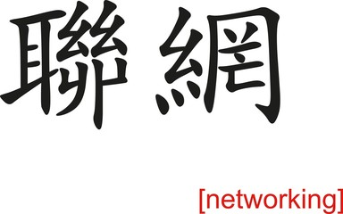 Chinese Sign for networking