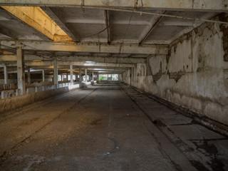 interior empty, abandoned building scene 3