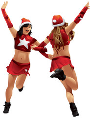 Santa Claus girls Christmas Dance