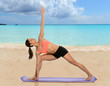 Woman Stretching With Yoga