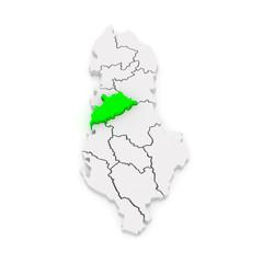 Map of Tirana. Albania.