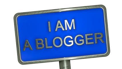 I am Blogger. Banner