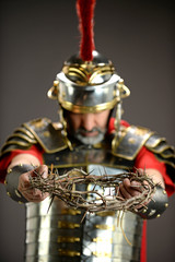 Roman Soldier Honding Crown of Thorns