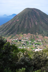 Italian Aeolian Islands mountain volcano Sicily