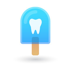 Ice cream icon with a tooth