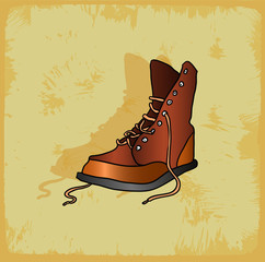 Cartoon shoes illustration