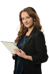 Businesswoman Holding Electronic Tablet