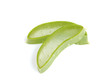 Fresh aloe vera leaves isolated on white