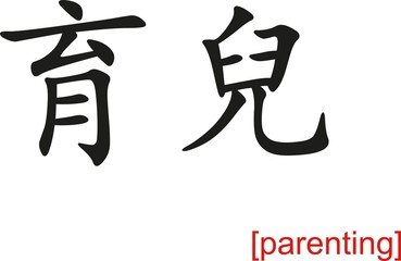 Chinese Sign for parenting