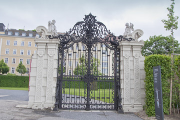 Metal gate in Belvedere Gardens, Vienna