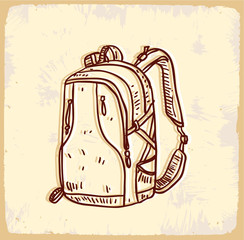 Cartoon backpack illustration