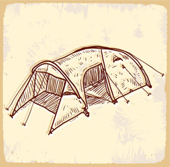 Cartoon tent illustration