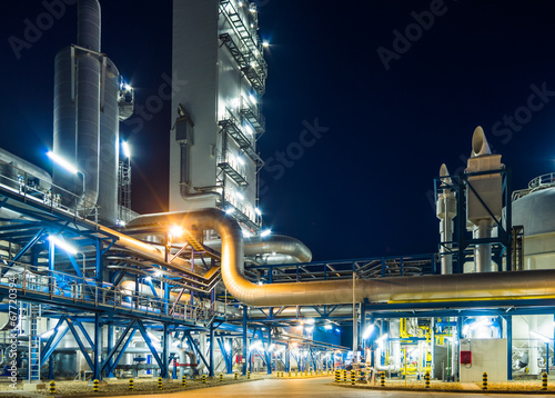 piping system at night - 67720394