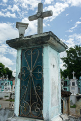 Mexican grave at cemetery in Merida Mexico