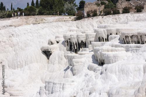 Pamukkale travertines like waterfalls