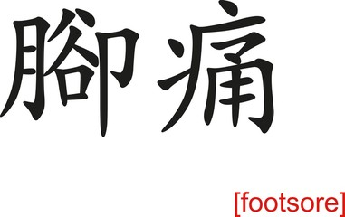 Chinese Sign for footsore