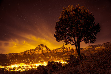 Sedona Arizona seen at night