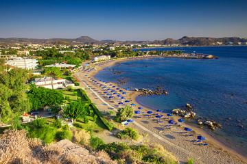 View of Faliraki excellent beach, Rhodes island