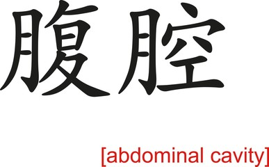 Chinese Sign for abdominal cavity