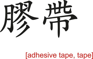 Chinese Sign for adhesive tape, tape