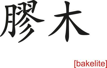 Chinese Sign for bakelite