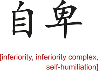 Chinese Sign for inferiority, self-humiliation