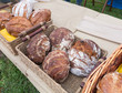 Organic Bread at Farmers Market