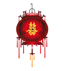Chinese Red Lantern Vector Stock