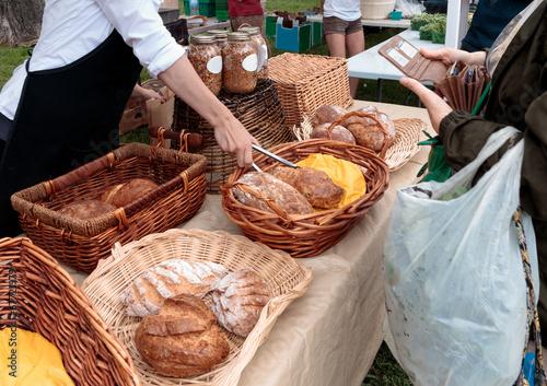Foto op Canvas Brood Organic Bread at Farmers Market