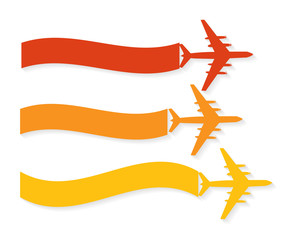 Retro Airplane Banner. Vector Illustration.