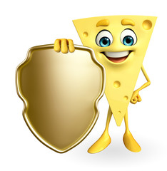 Cheese Character with shield