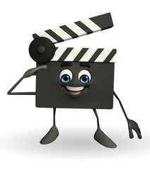 Clapper Board Character with salute pose