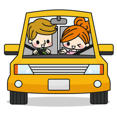 カップル 夫婦 ドライブ
