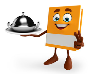 Book Character with dish pan