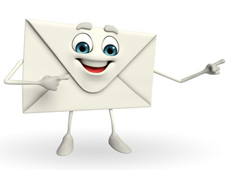 Mail Character is pointing