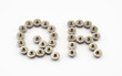 Q and R Alphabet, Created by Stainless Steel Hex Flange Nuts