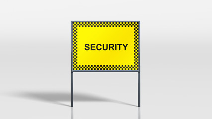traffic signage stands security