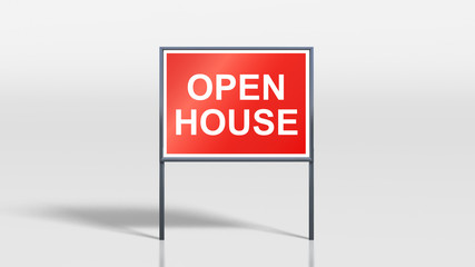 house signage stands open house