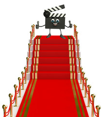 Clapper Board Character on the red carpet