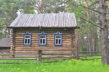 A wooden house of the West Siberian people Shors