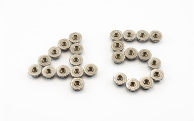 4 and 5 Number, Created by Stainless Steel Hex Flange Nuts