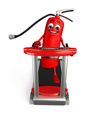 Fire Extinguisher character with walking machine