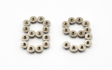 8 and 9 Number, Created by Stainless Steel Hex Flange Nuts