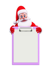 Santa Claus With notepad