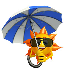 Sun Character With umbrella